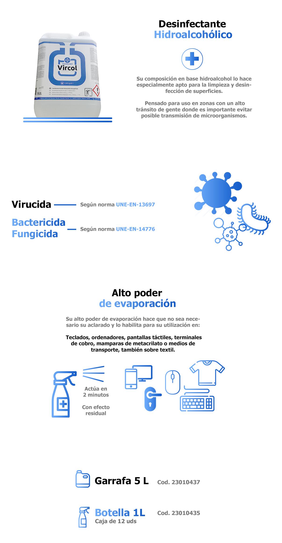 Desinfectante hidroalcohólico Vircol